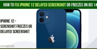 iPhone 12 delayed Screenshot or Freezes on iOS 14