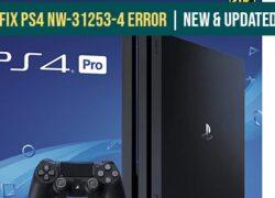 Fix PS4 NW-31253-4 Error