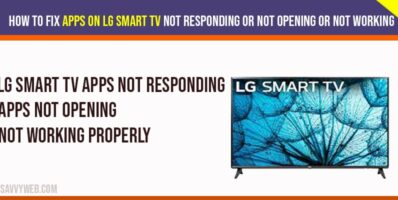 Apps on LG Smart TV not responding