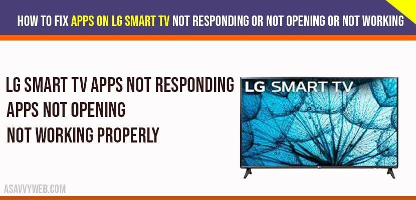 Apps on LG Smart TV not responding