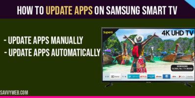 Update Apps on Samsung Smart TV