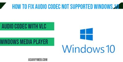 Audio codec not supported