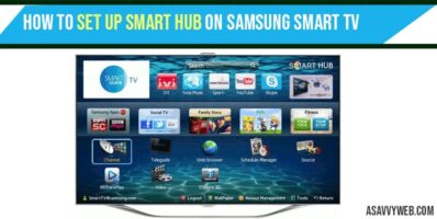 set up smart hub on Samsung smart TV