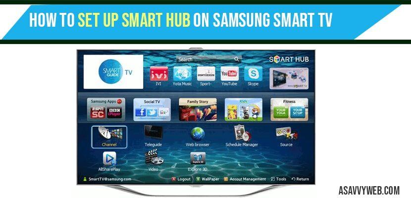 set up smart hub on Samsung smart TV