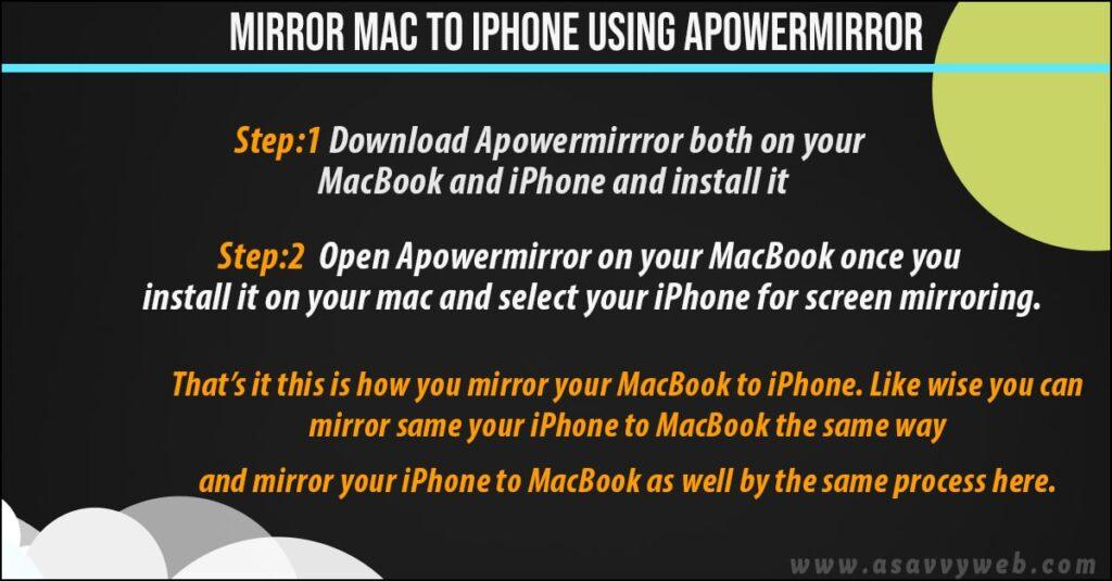 mirror iphone to mac using apowermirror