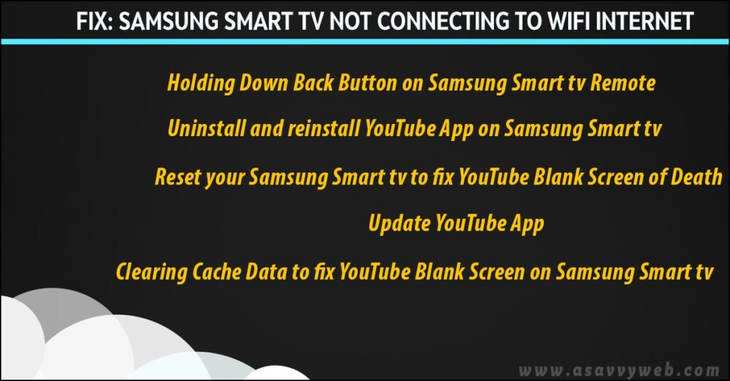 how to fix samsung smart tv wifi internet connection