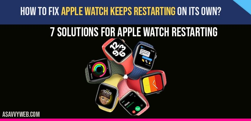Apple Watch Keeps Restarting