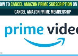 Cancel Amazon Prime Subscription on APP