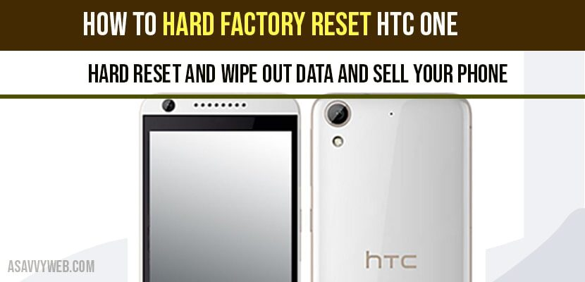 Hard Factory Reset HTC One