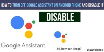 how to turn off google assistant on android phones