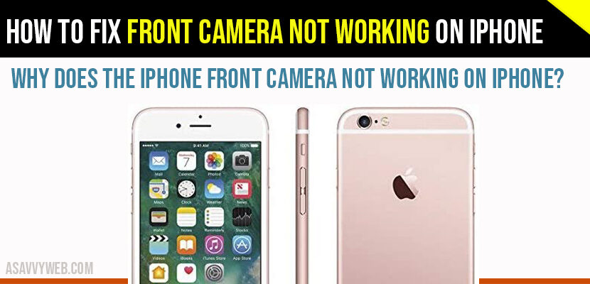 front camera not working on iPhone