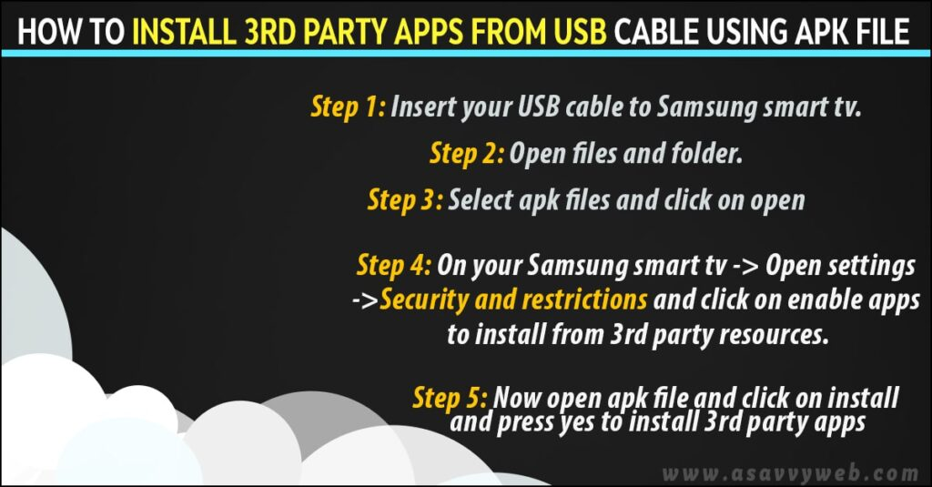 install-3rd-party-apps-on-from-usb-cable-on-samsung smart tb