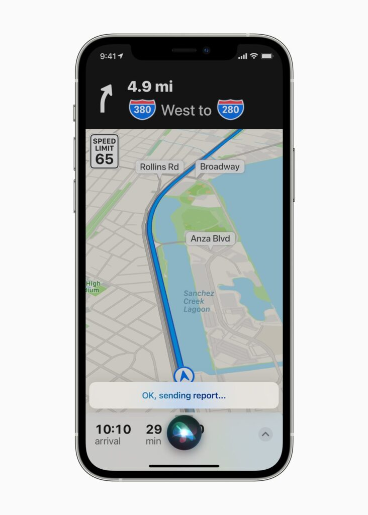 sending report on apple maps with new update ios 14.5