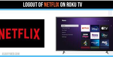 Logout of Netflix on Roku TV