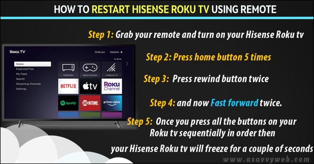 restart hisense smart tv using remote