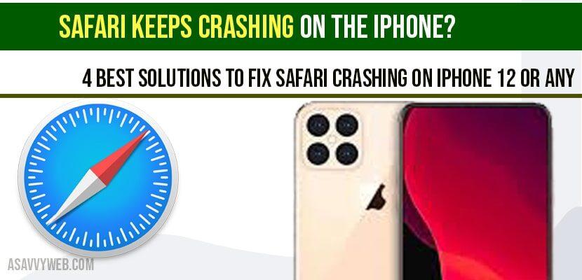 Safari Keeps Crashing on the iPhone?
