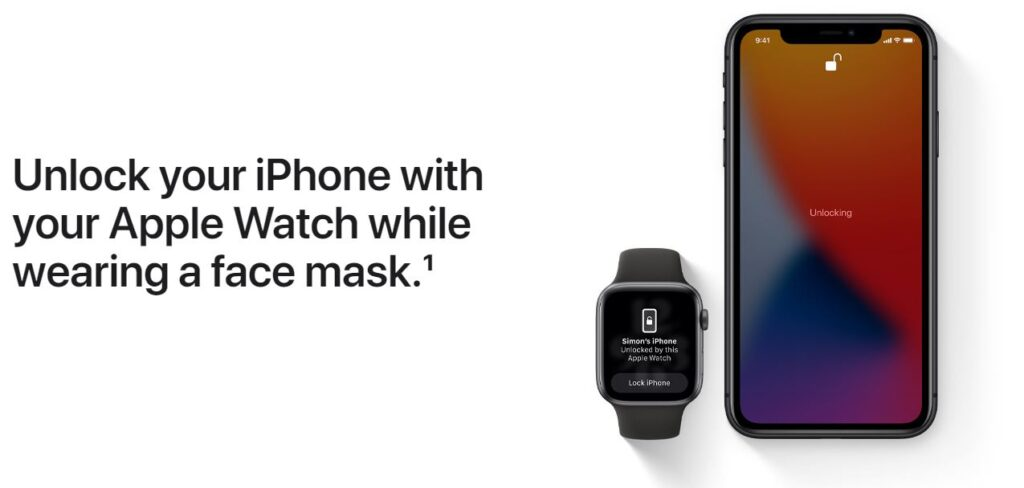 Unlock iPhone with apple watch in ios14.5 update