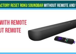 Factory Reset Roku soundbar