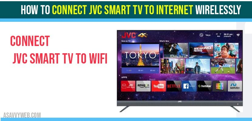 How to Connect JVC Smart TV to internet wirelessly