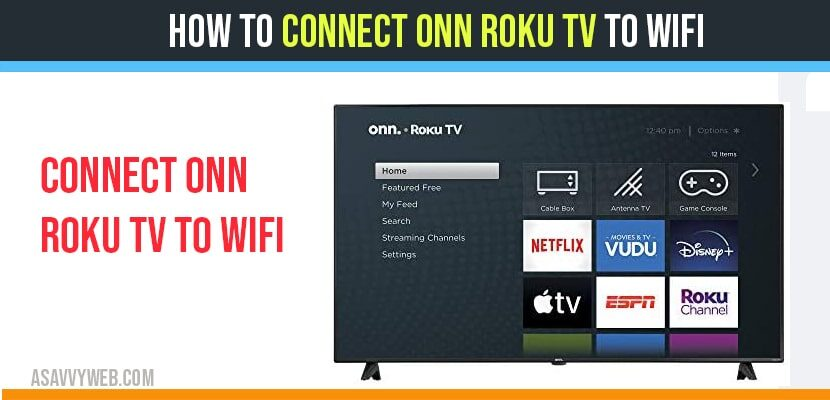 connect onn roku tv to wifi