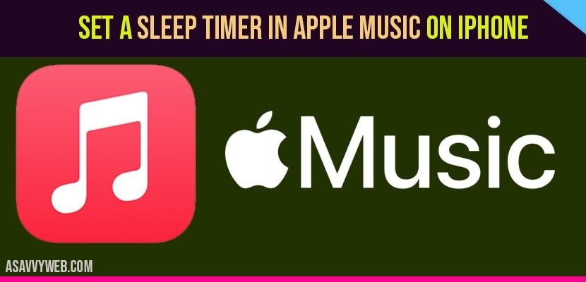 How to Set a Sleep timer in Apple Music on iPhone