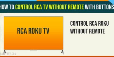 control RCA tv Without Remote with Buttons