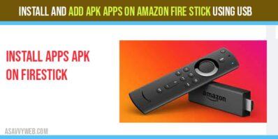 Install and ADD APK Apps on Amazon Fire stick Using USB