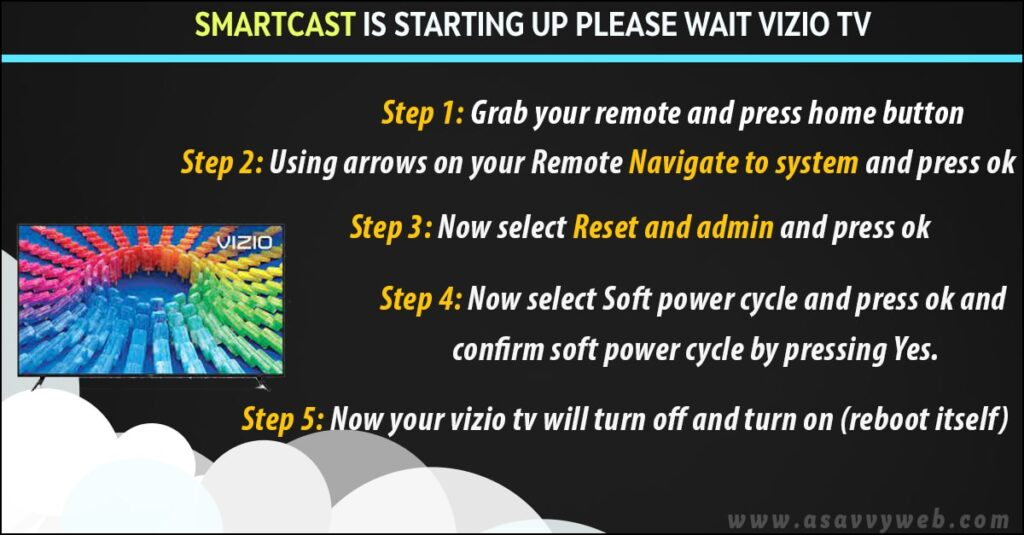 fix smartcast is starting up please wait