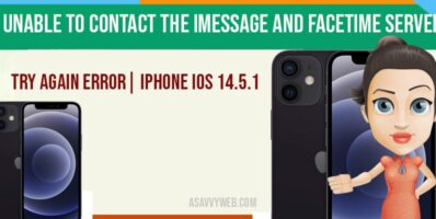 Unable To Contact the iMessage And Facetime Server Try Again Error| IPhone iOS 14.5.1