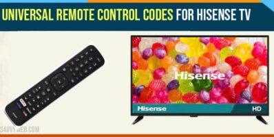 Universal Remote Control Codes For Hisense TV