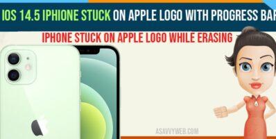 iOS 14.5 iPhone Stuck On Apple Logo With Progress Bar while erasing-min
