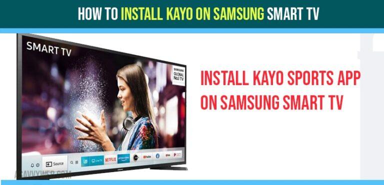 install kayo app on samsung smart tv