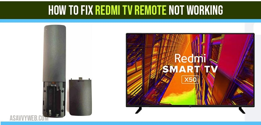 how to fix Redmi tv remote not working