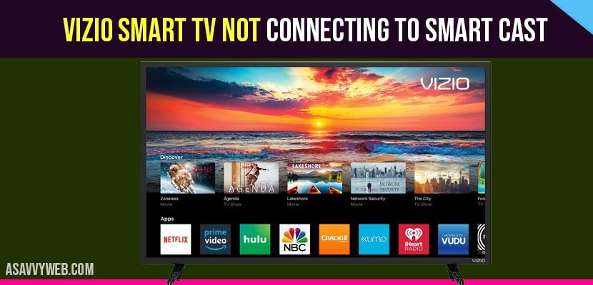 How to fix VIZIO Smart tv Not Connecting to wifi?