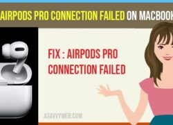 Airpods pro connection failed on macbook pro
