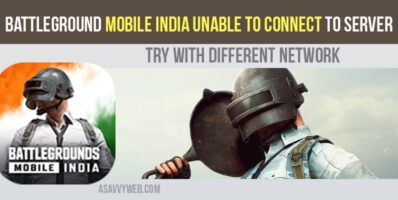 Battleground Mobile India Unable to Connect to Server Try With Different Network