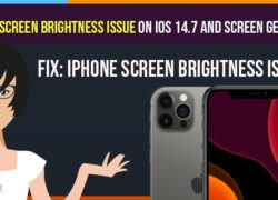 Fix-iPhone Screen Brightness Issue on iOS