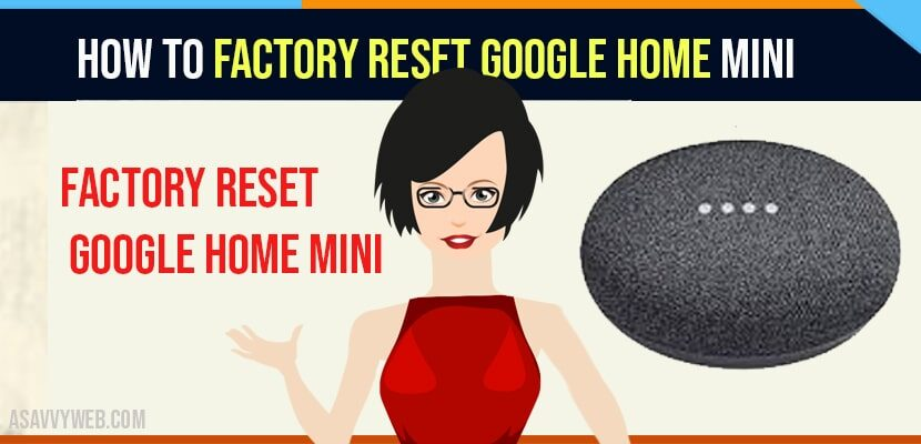 Factory Reset Google Home Mini