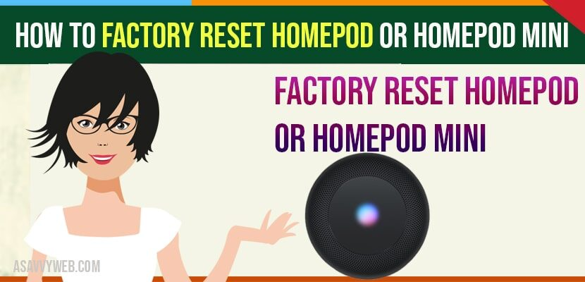 how to factory reset homepod or homepod mini