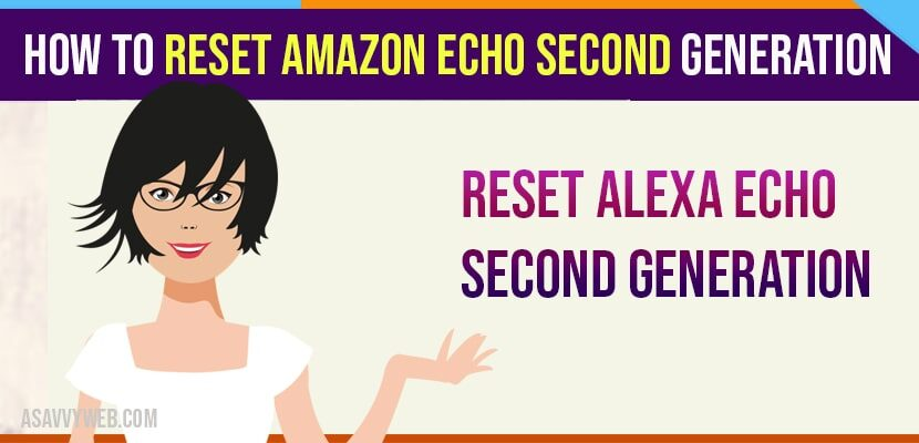 How to Reset Amazon Echo Second Generation