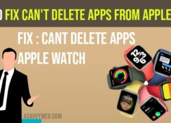 Can't Delete Apps From Apple Watch