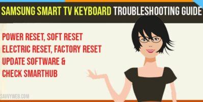 Samsung Smart TV keyboard Troubleshooting Guide