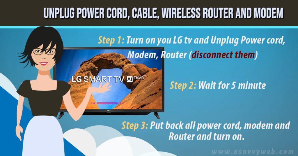unplug power cord router/modem