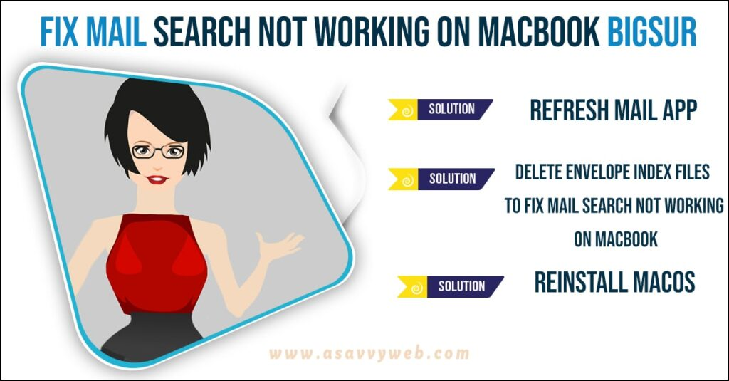 fix Mail search not working on Macbook BigSur