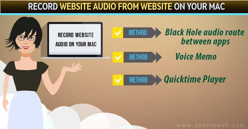 How to Record Website Audio From Website on Your Mac