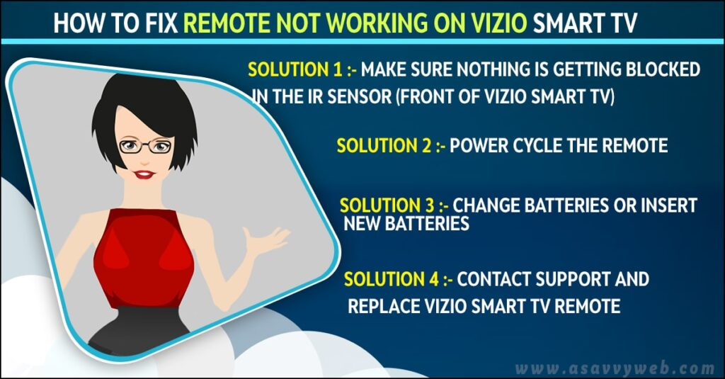 fix remote not working on vizio smart tv
