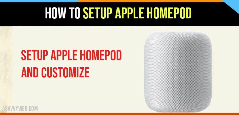 How to setup Homepod
