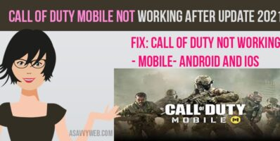 Call of Duty Mobile Not Working After Update 2021