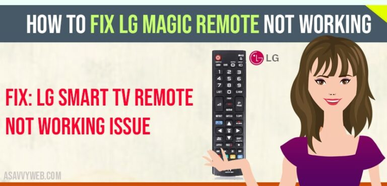 How to Fix LG magic Remote Not Working
