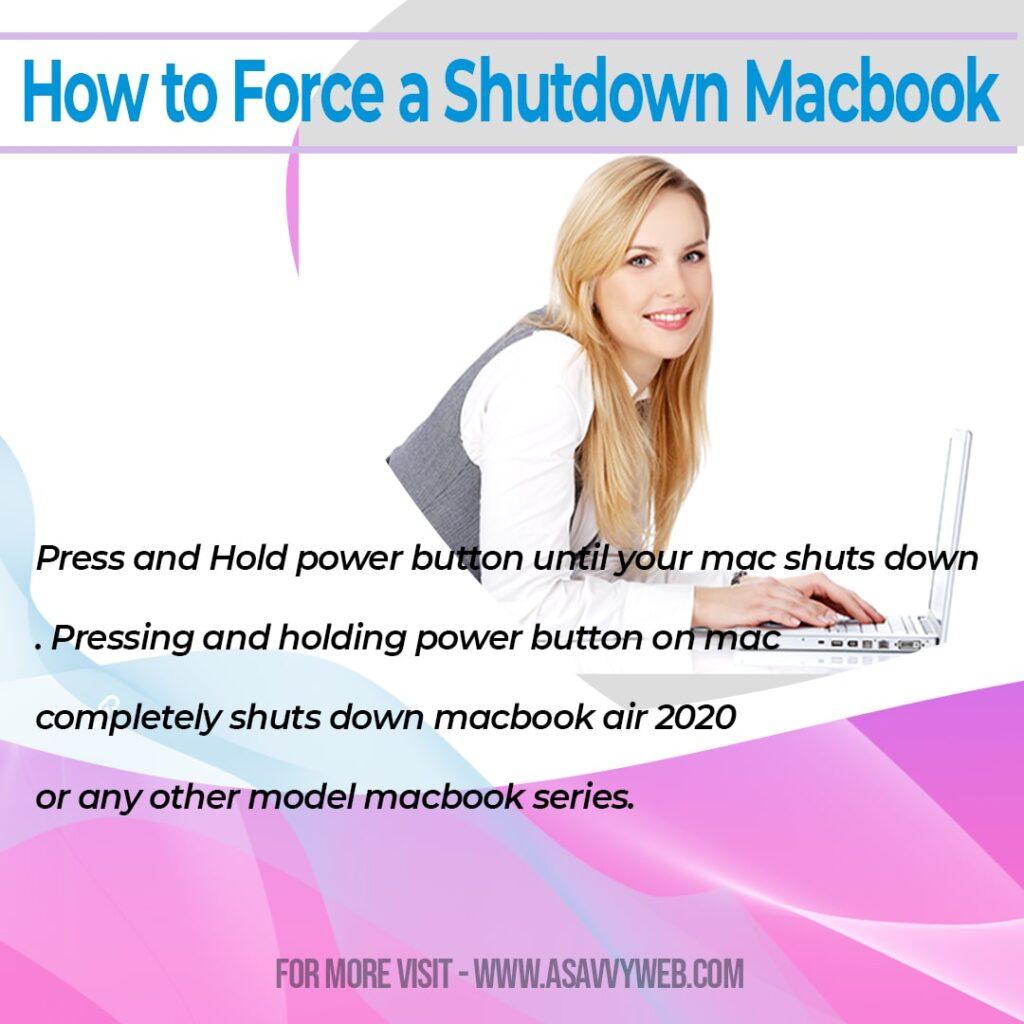 How to Force a Shutdown Macbook
